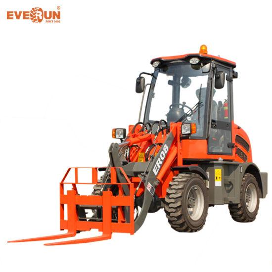 Everun Brand CE Approved 0.8 Ton New Mini Wheel Loader
