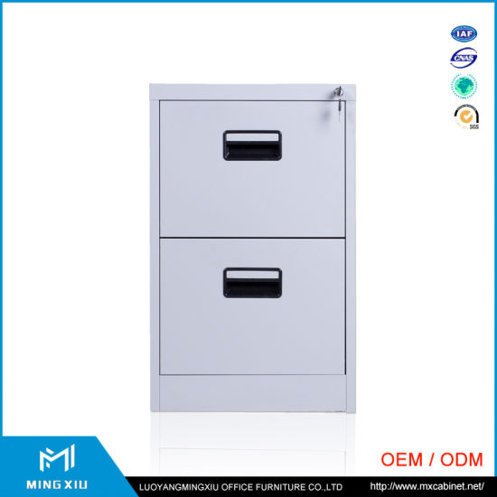 China Supplier High Quality 2 Drawer Metal File Cabinet Storage Office Filing