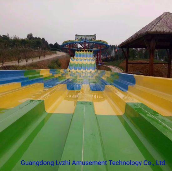 Outdoor Playground Fiberglass Spider Water Slide 15m-High (WS-092)