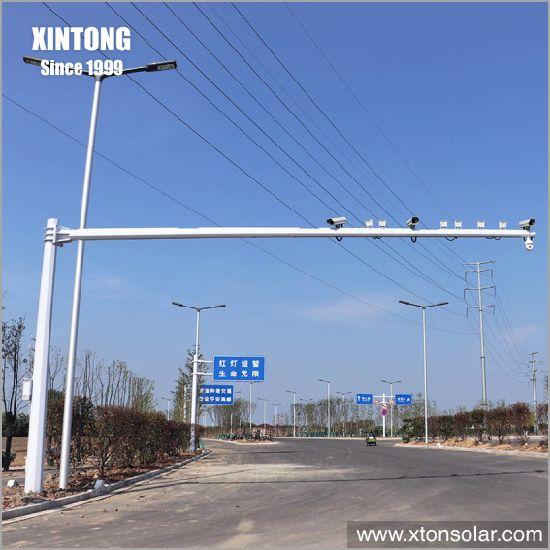 5m Steel Galvanized Tube Smart CCTV Camera Pole