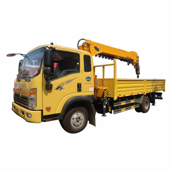 Good Quality HOWO 4X2 5tons Crane Truck with Drill