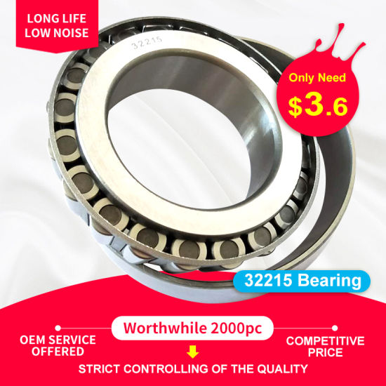 32215 High Quality and Cheaper Price Factory Tapered Roller Bearing 30215 30315 32215 32315 31315 33015 33215 32915