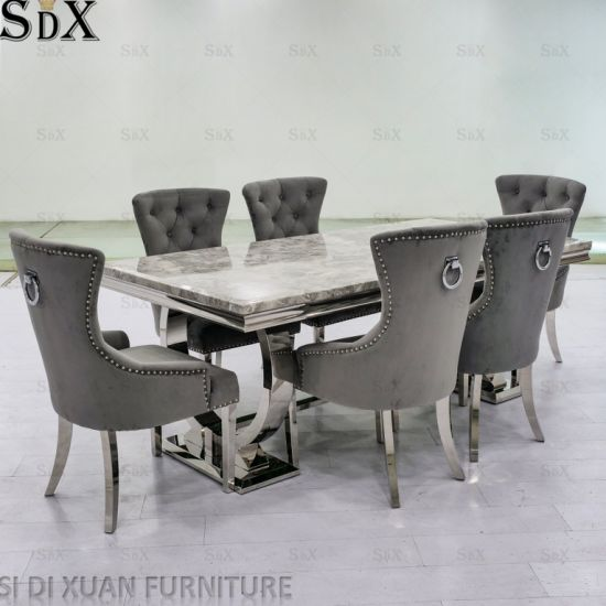 Modern Popular Ariana Design Home Dining Room Furniture Dining Table Set
