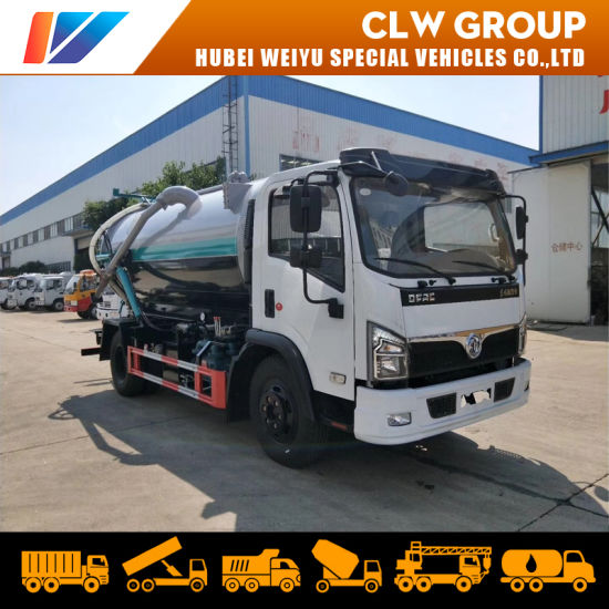 Dongfeng 8000 Liters Sewage Suction Truck 8m3 4X2 Cleaning Truck