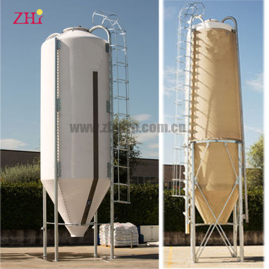 Fiber Glass High Quality Feed Silo for Poultry Farm