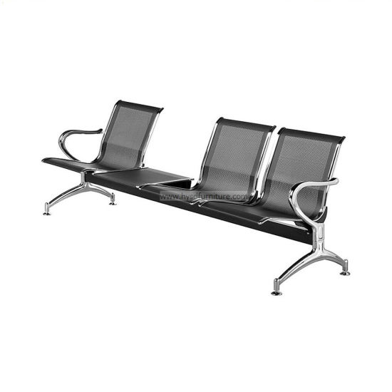 High Quality 2/3/4/6 Passenger Stainless Steel Public Bench Waiting Seating Airport Chair with Metal Frame (HY500-K03CS)