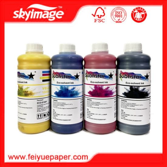 Sublistar Economy Eco-Solvent Ink for Epson Dx4/ Dx5/ Dx7 Printhead pictures & photos