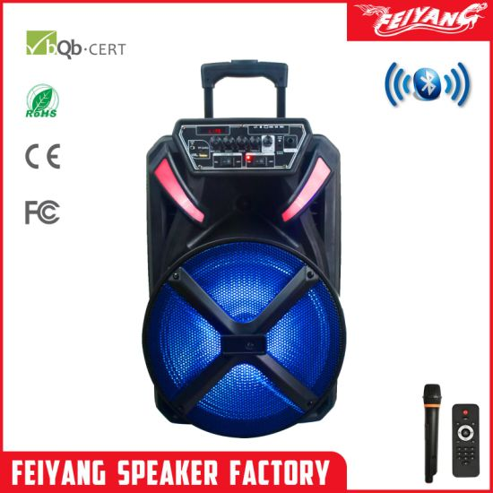 2019 New Arrival Rechargeable Trolley Bluetooth Speaker Box