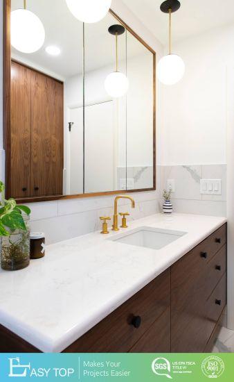 New Design LED Smart Mirror Bathroom Furnature Plywood Wood Tones PVC Bathroom Cabinet