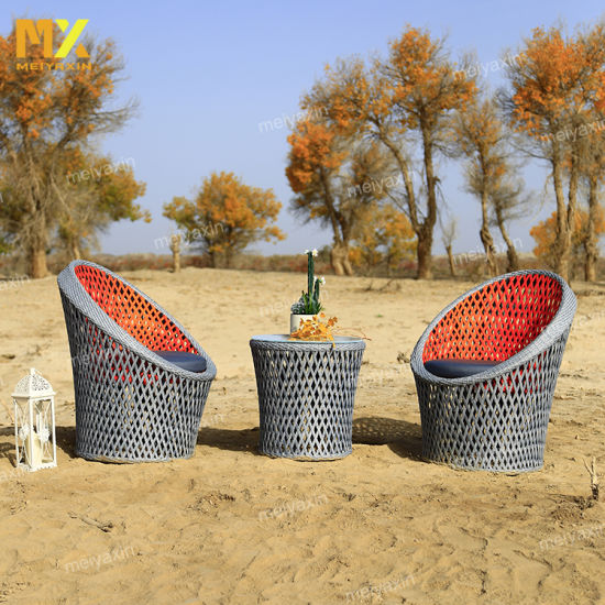Myx Outdoor Restaurant Rattan Bistro Beach Dining Chair