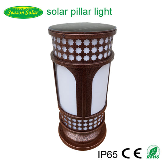 Nice Christmas LED Night Lighting Outdoor 4W Solar Panel System Solar Pillar Light