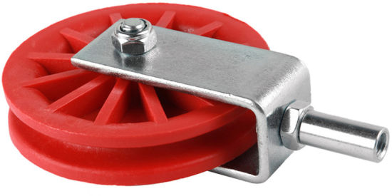 "Single Nylon Wheel Pulley 3.5"" (#131266)"