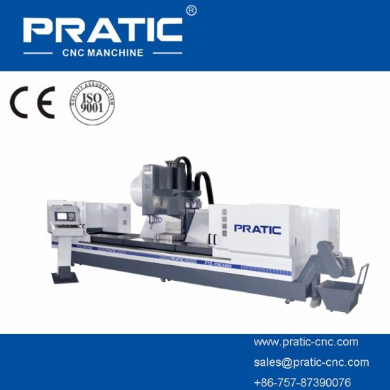 High-Accuracy CNC Milling Cutting, Drilling Machine with T-Slot Table