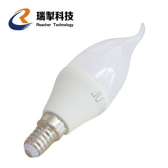 High-Quality Patent Product with Upside Down Effect E12 Candles LED Flame Effect Light Bulb