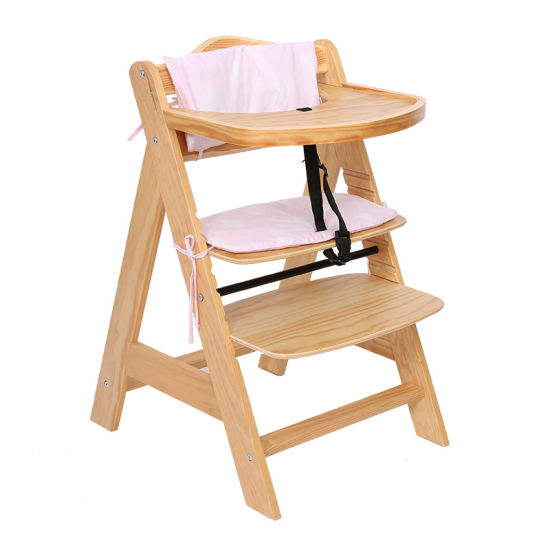 With Cushion Baby Wooden High Chair, High Chair Pads For Wooden Chairs