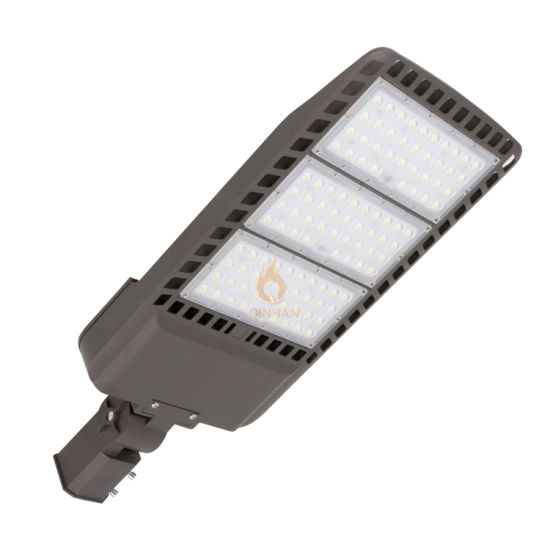 150lm/W 100W-300W Adjustable Waterproof LED Parking Lot Shoebox Street Light for Outdoor Park Lot Area Garden Yard Main Road Highway Lighting with Photocell
