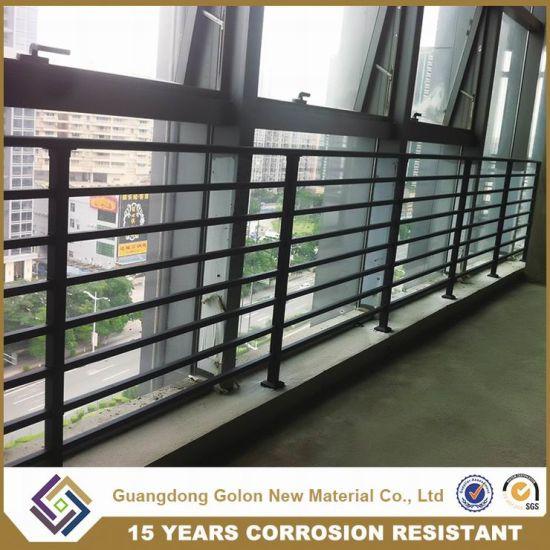 Modern style aluminum security veranda railing