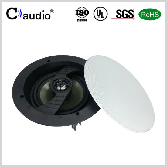 6.5 Inch Swiveling Tweeter Professional Mini Loud PRO Audio PA Active Ceiling Speaker with Coated Paper Cone