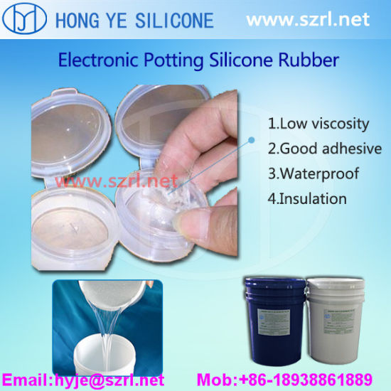 Electronic Potting Compound Silicone Rubber of Easy Pouring Operation