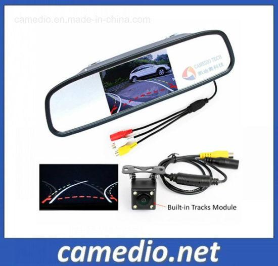 HD Car Parking Tracks Camera+4.3 Inch Car Rearview Mirror
