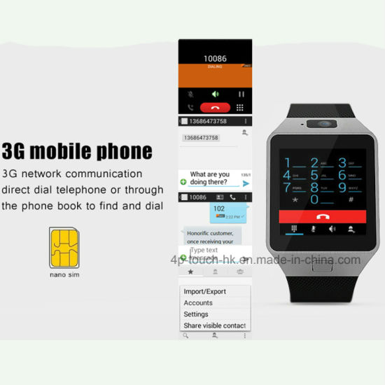 China 3G WiFi Mobile Watch Phone Support Download Apps Qw09 - China