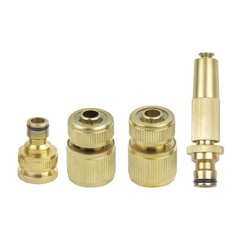 Heavy Duty Brass Metal Water Spray Nozzle Gun Set