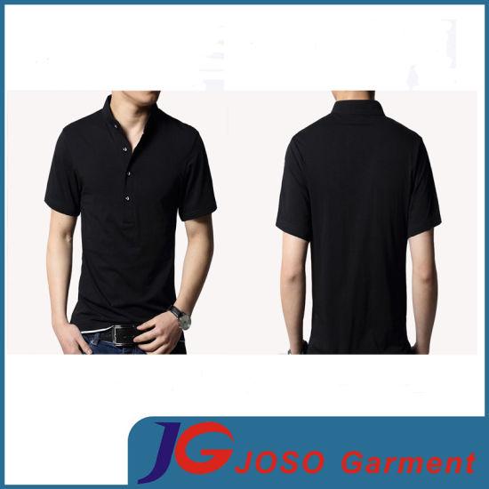 Fashion Polo Neck Cotton T-Shirt for Man (JS9024m)