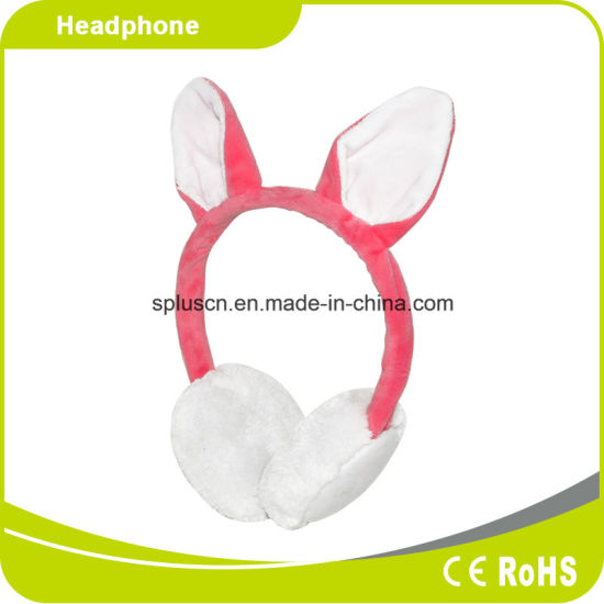 Rabbit Pink Wool Headphone Hot Sale pictures & photos