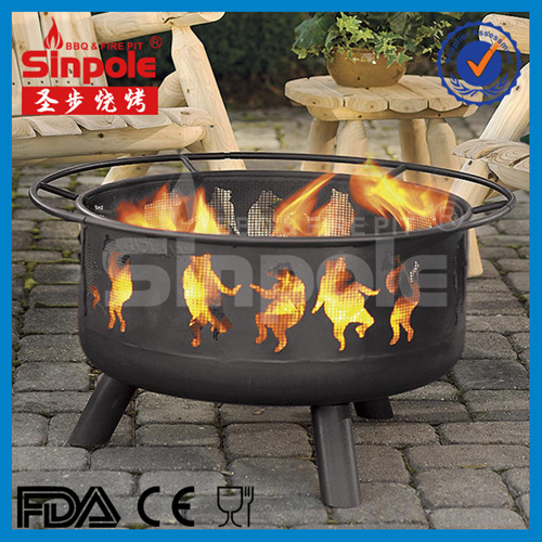 Popular 28inch Sky and Moon Fire Pit with BBQ Grill (SP-FT071) pictures & photos