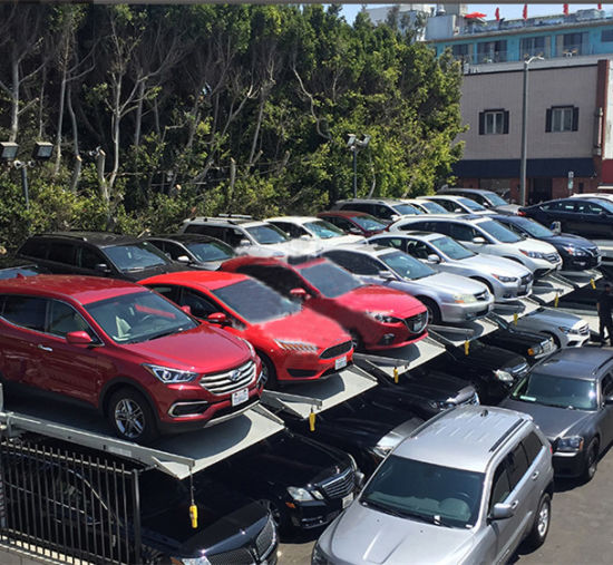 SUV Strong Two Post Double Level Auto Car Parking Lift with Ce
