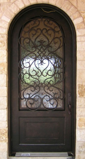 China Beautiful Security Iron Single Entry Door Grill China