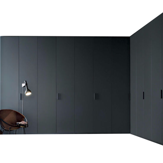 High End Australian Style High Gloss Grey Color Closet For Apartment