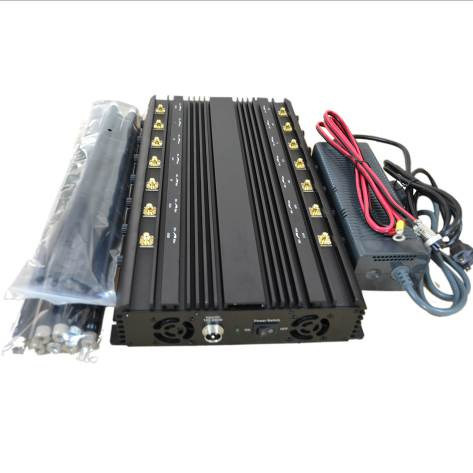 Whole Frequency 14 Antennas Desktop WiFi GPS VHF UHF Lojack 3G 4G Cell Phone Signal Jammer Blocker pictures & photos