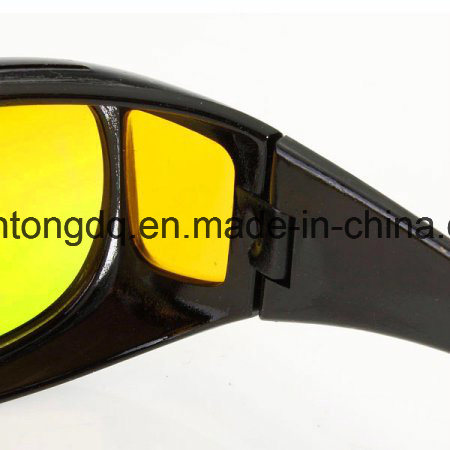 0c65d04330d Unisex HD Lenses Sunglasses UV Protection Night Vision Driving Sports Goggles  Driving Glasses Yellow