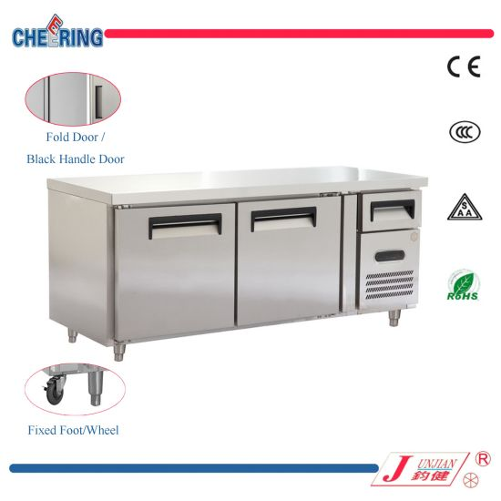 China Manufacturer Stainless Steel Commercial Under Counter Refrigerator Chiller Freezer pictures & photos