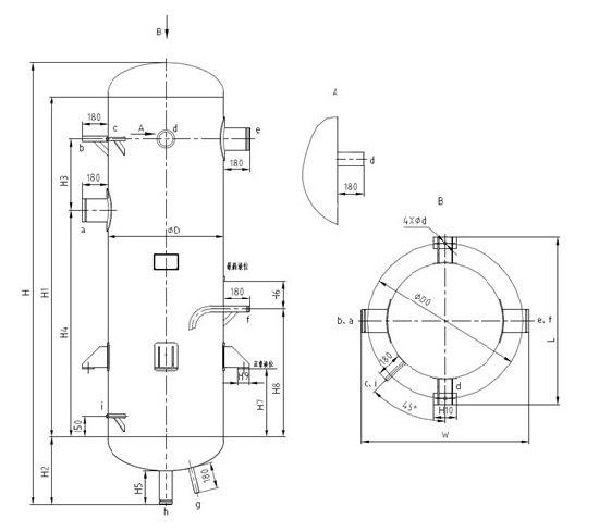 china vertical type gas liquid separator china gas liquid  vertical type gas liquid separator