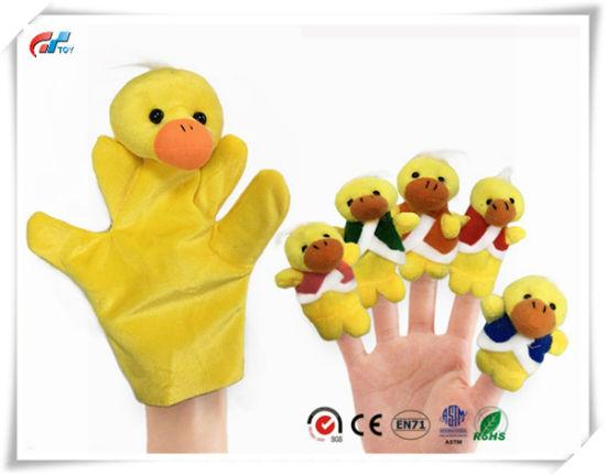 6PCS Story Time Finger Puppets - Five Little Ducks Educational Puppets