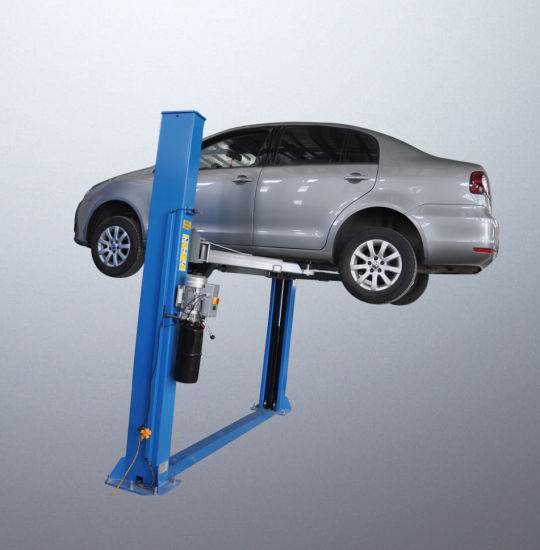 Two Post Double-Cylinder Floor Plate Hydraulic Lift for Low Space