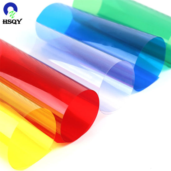 Decorative Colourful PVC Rigid Sheet Translucent Plastic Film