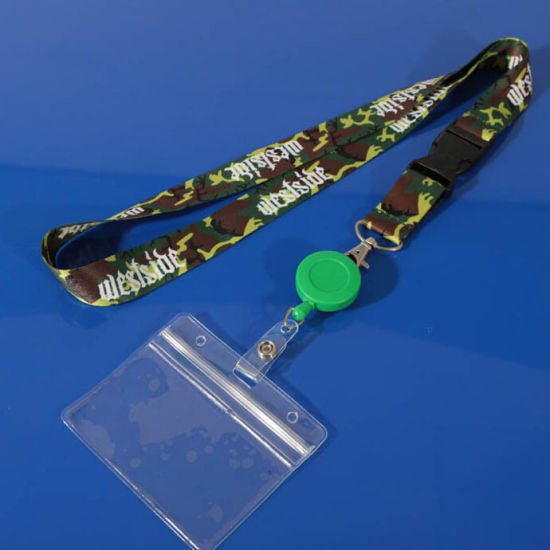 Fashion Promotional Card & Key Lanyard with Badge Reel