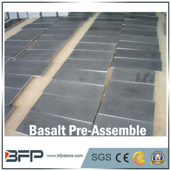 Natural Polished Stone Tile Basalt for Floor/Flooring/Stairs/Wall/Bathroom/Kitchen Tile pictures & photos