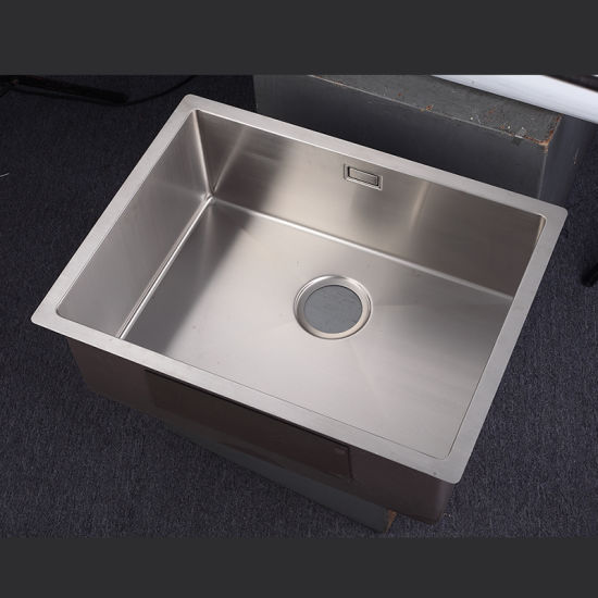 6045 Drop In Single Bowl Hand Made Sinks Undermount Stainless Steel Kitchen Sink