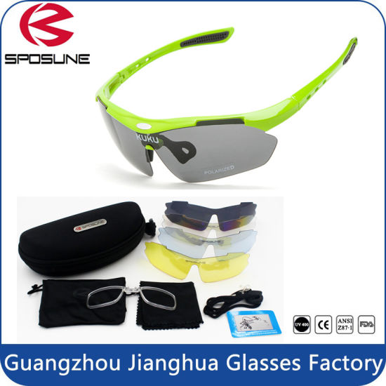 66a88ab55b Multi Sport Sunglasses Polarized Outdoor Sport Eyewear with 5 Spare  Interchangeable Lenses Mirrored pictures   photos