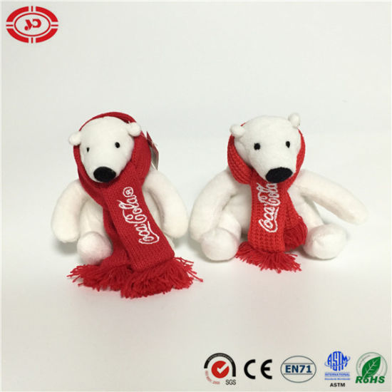 Brand Coca-Cola White with Scarf Plush Stuffed Party Bear Toy pictures & photos