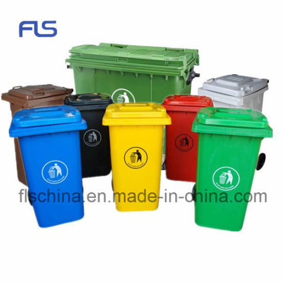 Hot Sale Plastic Garbage Can Trash Can Rubbish Can with Wheels