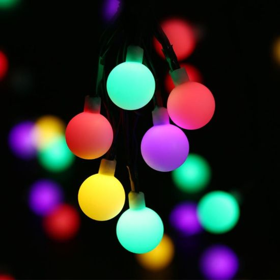 rgb led globe ball string lights for party christmas decoration