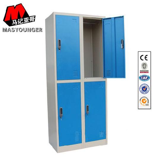 Multi Color Fancy Kid Bedroom Design Modern Furniture Metal Storage Cabinet  Wardrobe Locker