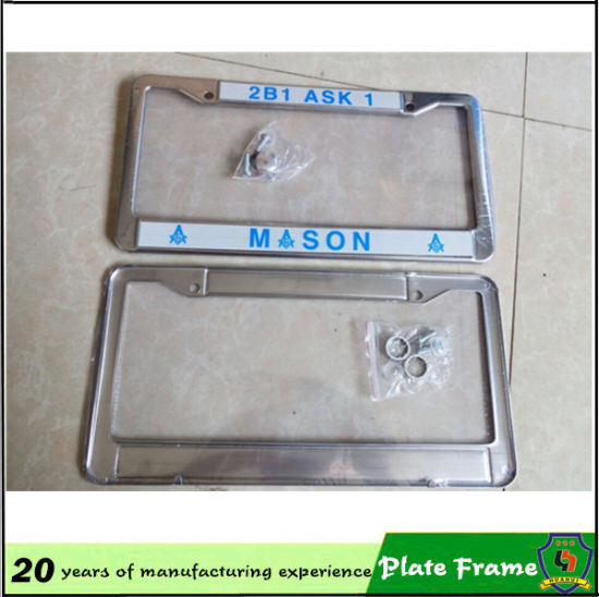 Design Custom License Car Number Plate Frame pictures & photos