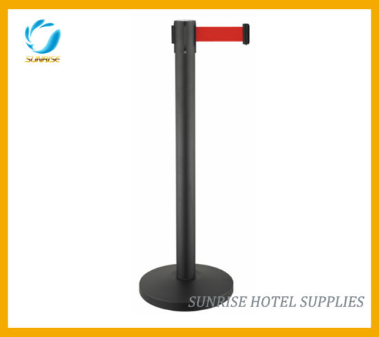 Bank Safe Belt Stanchion Queue Pole Retractable Belt Barriers pictures & photos