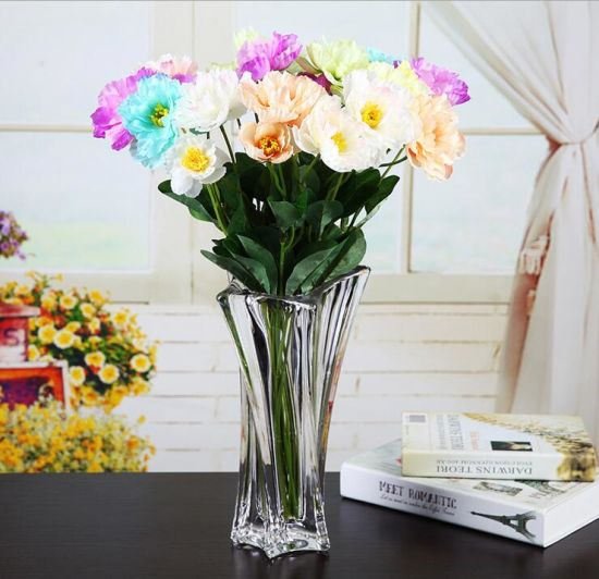 China Factory Supply Cheap Wholesale Crystal Vases Tall Cheap Clear